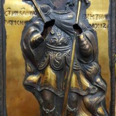 Sfantul Mucenic Pantelimon, Icoana cu ferecatura din argint, Rusia, 1843