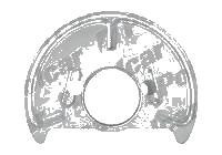 Protectie stropire disc frana Volkswagen Transporter (T3), 1986-1992, fata, Dreapta, metal