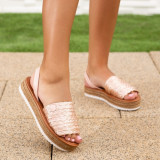 Sandale dama cu platforma roz Sotulia