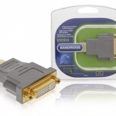 Adaptor High Speed HDMI - DVI-D 24+1-Pin Mama Bandridge BVP100 Gold