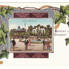 4352 - BOTOSANI, Park Belvedere, Litho, Romania - old postcard - unused