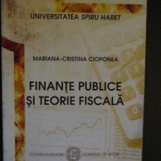 Finante publice si teorie fiscala