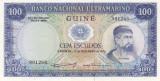 Bancnota Guineea Portugheza ( Guineea Bissau ) 100 Escudos 1971 - P45 UNC