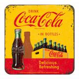 Suport de pahar - Coca Cola - Yellow