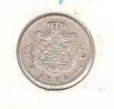 SV * Romania  1  LEU  1884  ARGINT .835 * Regele Carol I  *  mai rara