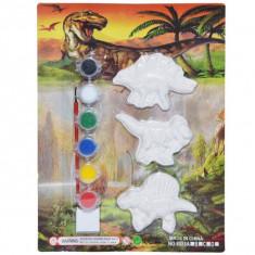 Set 3 Dinozauri pentru pictat cu acuarele