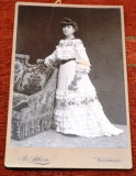 Moda ,Distinsa doamna Cartojanu ,fotografie vechi atelier ,,ATHEN,,