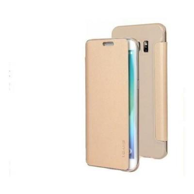 Husa Usams Uview Series Samsung Galaxy S6 Edge Plus Gold foto