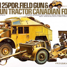 1:35 British 25 PDR. Gun & Quad Tractor - 1 figure 1:35