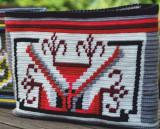 Geantă ornamentată cu motivul popular din Transilvania aripile roților de moară