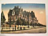 Carte Postala Militara, Germania 1916: Cazarma Militara din Kortrijk-Belgia