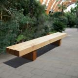 Banca pentru parc din lemn masiv, 200 x 35 x 45 cm, rezistenta la apa