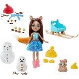 Cumpara ieftin Set Enchantimals Mattel papusa Sharlotte Squirrel, figurina Peanut si accesorii