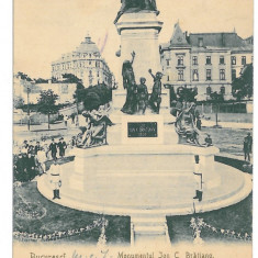 4363 - BUCURESTI, Bratianu Monument, Romania - old postcard - used - 1903, Circulata, Printata