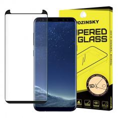 Folie Samsung Galaxy S9 Plus, Sticla Securizata, 5D, Curbata, Super Rezistenta, Wozinsky, Cu Rama, Negru