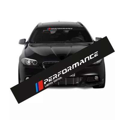 Sticker BMW  parbriz sau luneta BMW M PERFORMANCE,ornament auto parasolar foto