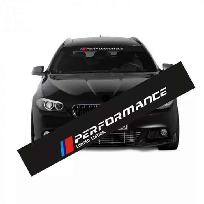 Sticker BMW  parbriz sau luneta BMW M PERFORMANCE,ornament auto parasolar