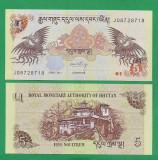 = BHUTAN - 5 NGULTRUM – 2011 - UNC =