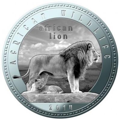 Zambia 1000 Kwacha 2014 UNC Leu 40mm argintiu foto