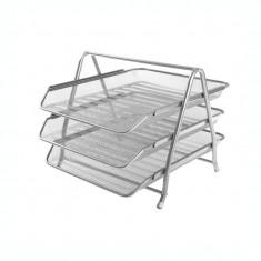 Tavita pentru documente metalica mesh Forpus 30555 silver