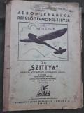 Plan planor maghiar Szittya anii 1930 aeromodel