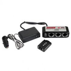 Adaptor priza auto Lampa 12 V USB 5 V telecoamnda