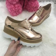 Adidasi dama aurii cu platforma marime  38, 39, 40, 41+CADOU