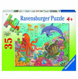 Puzzle Animale din ocean, 35 piese, Ravensburger