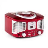 Cumpara ieftin Auna RCD320, CD player retro, FM, AUX, roșu