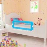 Balustradă de pat protecție copii, 2 buc, albastru, 102 x 42 cm, vidaXL