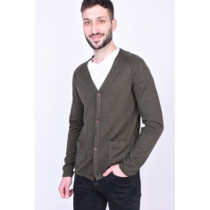 Cardigan Jack&Jones Jprunion Knit Olive Night, L, Khaki