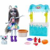 Cumpara ieftin Set Enchantimals Mattel papusa Winsley Wolf, figurina Trooper si accesorii