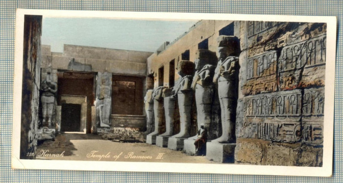 AD 590 C. P. VECHE - KARNAK -TEMPLE OF RAMESES III -EGYPT