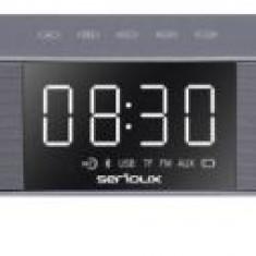 SoundBar PC Serioux SRXSSB26 SoundVibe 10W, bluetooth 4.2, acumulator, AUX, USB, Radio FM (Argintiu)