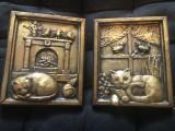 Pereche de tablouri miniaturale olandeze,din compozit
