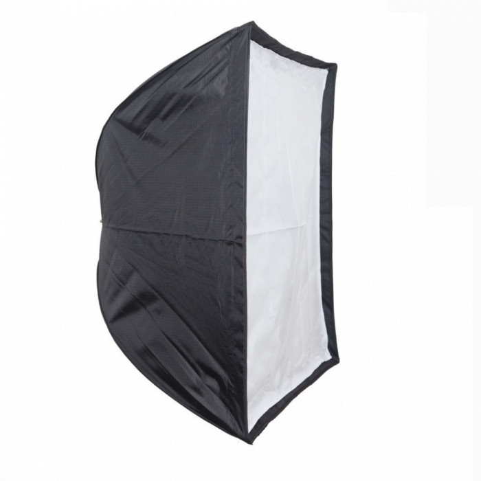 Softbox 70x70cm cu deschidere tip umbrela si montura Bowens