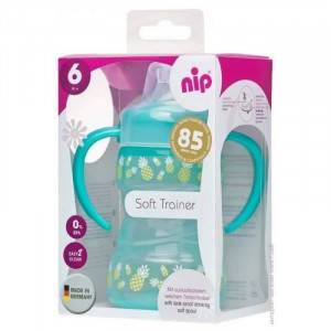 Cana de baut Nip Soft Trainer, 260 ml, 6 luni +