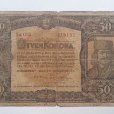 50 Korona 1920 Ungaria bancnota coroane