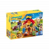 Set de Constructie 1.2.3 Scena de Craciun, Playmobil