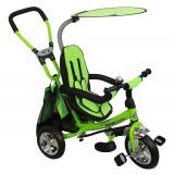 Tricicleta cu sezut reversibil Safari Break 360 Green, Baby Mix