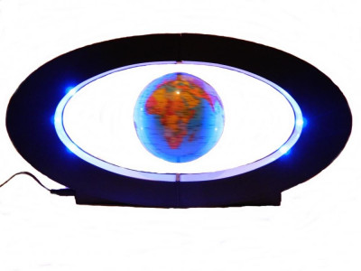 Glob pamantesc Terra, ce leviteaza cu lumini foto