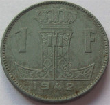 Moneda istorica 1 FRANC - BELGIA, anul 1942 *cod 971, Europa, Zinc