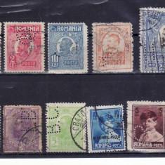 Romania    1900 - 1950  Lot  timbre   Perfin