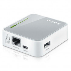 Router wireless portabil TL-MR3020 N, 3G, USB, 1 x WAN/LAN, mini port USB