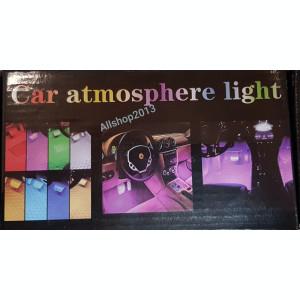 Set 4 benzi LED Interior Auto RGB 18 LED-uri cu telecomanda