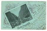 3198 - Turda, CHEILE TURZII, Litho, Romania - old postcard - used - 1901, Circulata, Printata