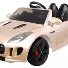 Masinuta electrica Jaguar F-Type, champagne metalizat