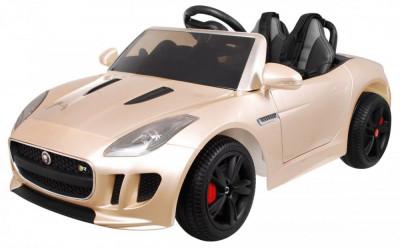 Masinuta electrica Jaguar F-Type, champagne metalizat foto