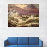 Tablou Canvas, Peisaj Valuri pe Mare - 20 x 25 cm