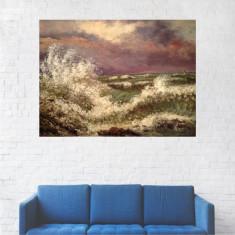 Tablou Canvas, Peisaj Valuri pe Mare - 80 x 100 cm